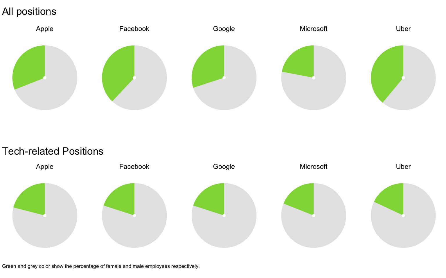 Economist Tech Gender Diversity Pie Chart Rstats 1 Nandeshwarfo