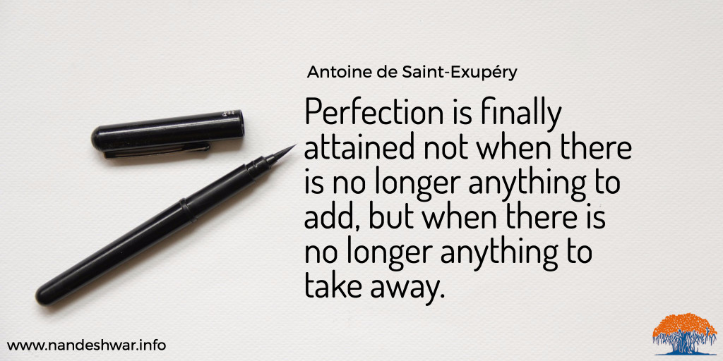 design perfection quote