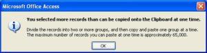 Access 2007 Export to Excel Error
