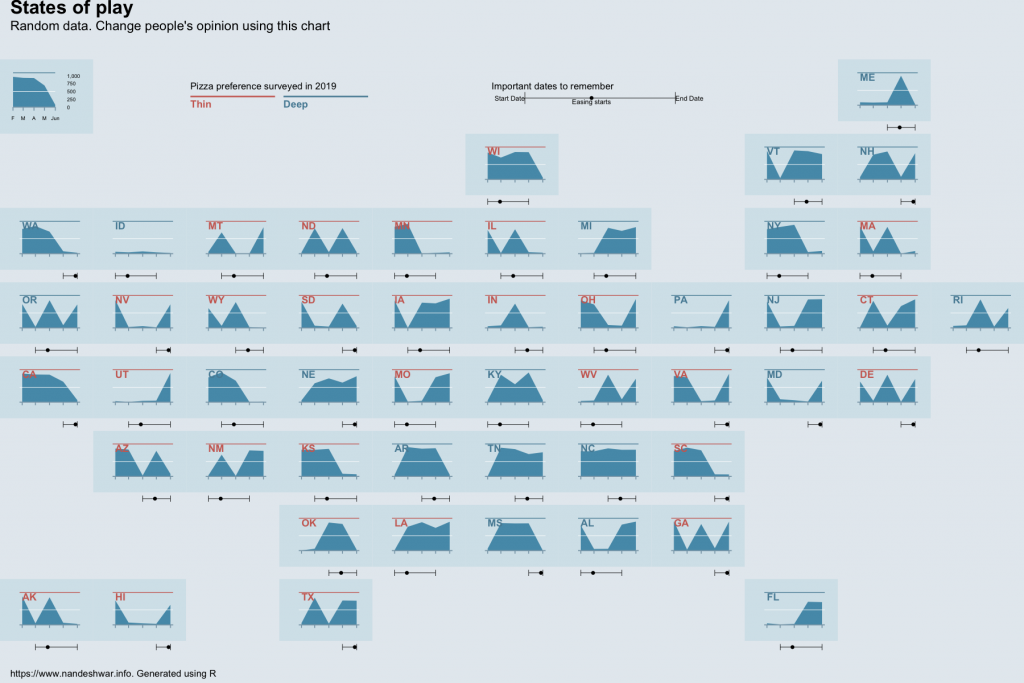 Map plot created in R as seen in the Economist.