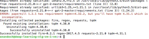 tqdm error pip3 version local user